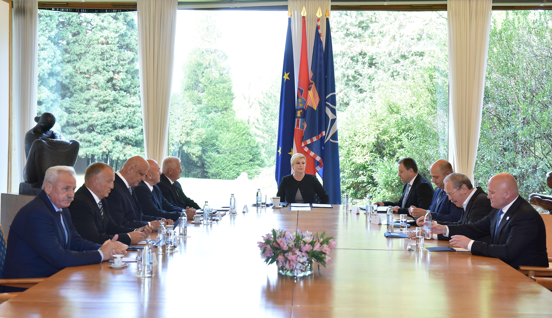 Predsjednica Republike primila izaslanstvo Hrvatskog generalskog zbora
