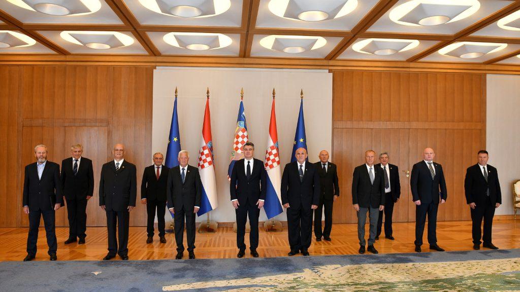 Predsjednik Republike Hrvatske primio izaslanstvo Hrvatskog generalskog zbora